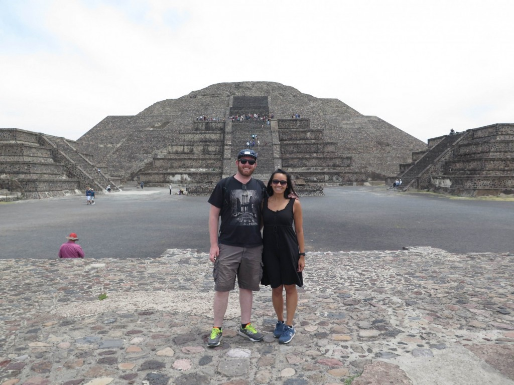 Standing in front of the Pyramid of the Moon